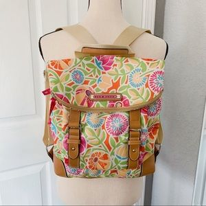 Lily Bloom floral backpack nylon multicolor